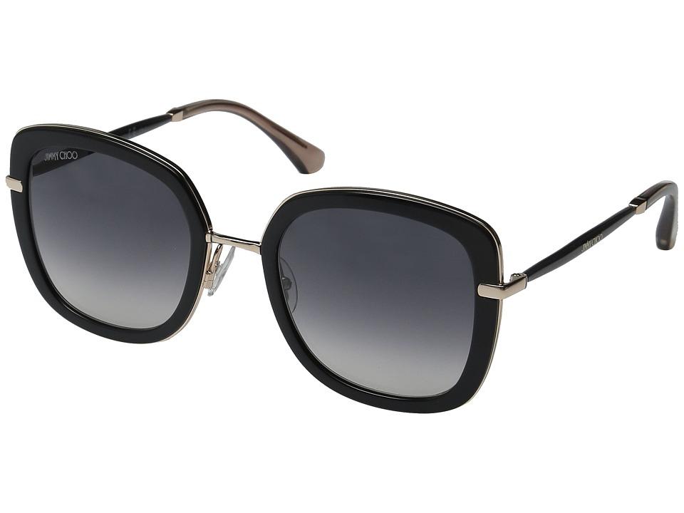 Jimmy Choo - Glenn/S (Black/Dark Gray Gradient) Fashion Sunglasses