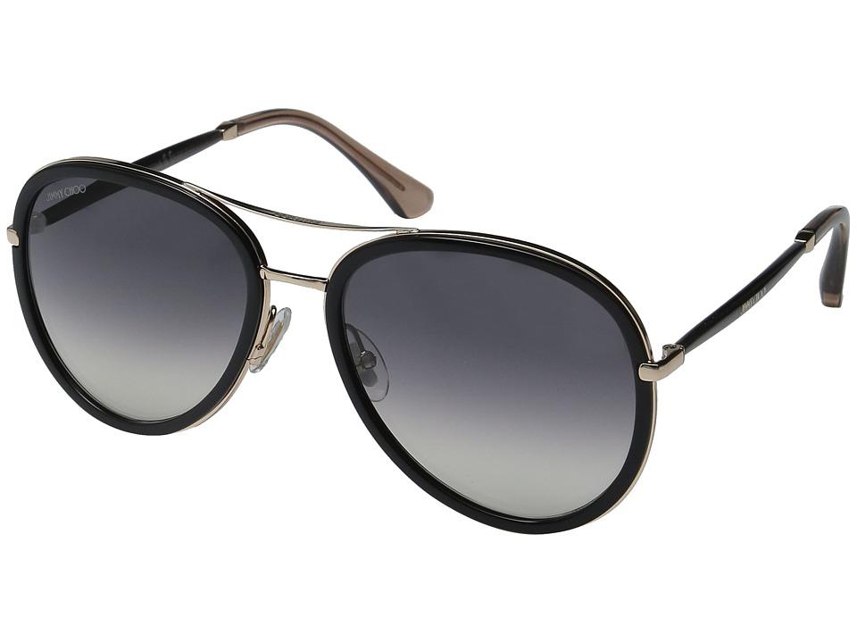 Jimmy Choo - Tora/S (Black/Dark Gray Gradient) Fashion Sunglasses