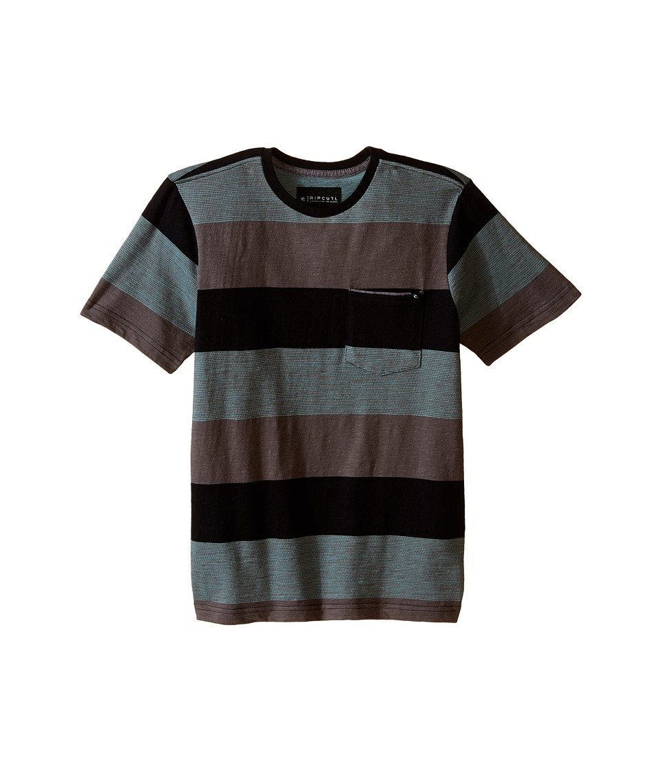 Rip Curl Kids - Felix Short Sleeve Crew (Big Kids) (Black) Boy's Short Sleeve Pullover