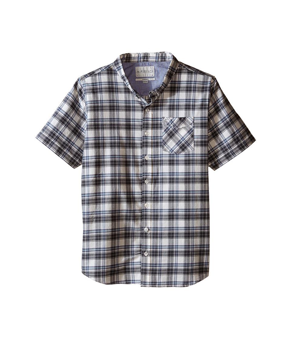 Rip Curl Kids - Delgado Short Sleeve Shirt (Big Kids) (Off-White) Boy's Short Sleeve Button Up