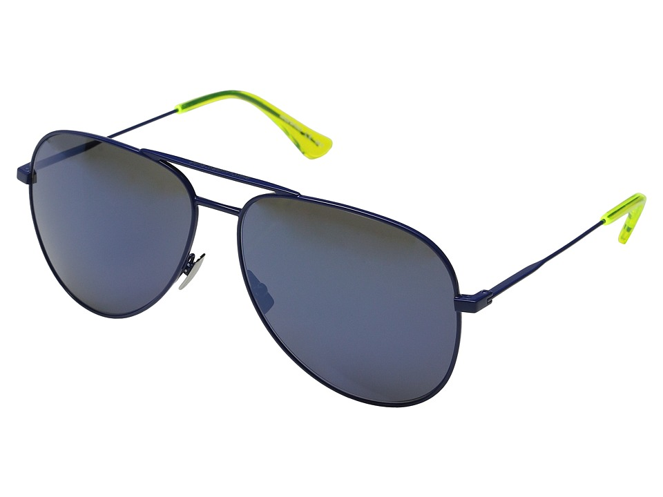Saint Laurent - Surf Aviator (Blue/Blue Mirror Lens) Fashion Sunglasses