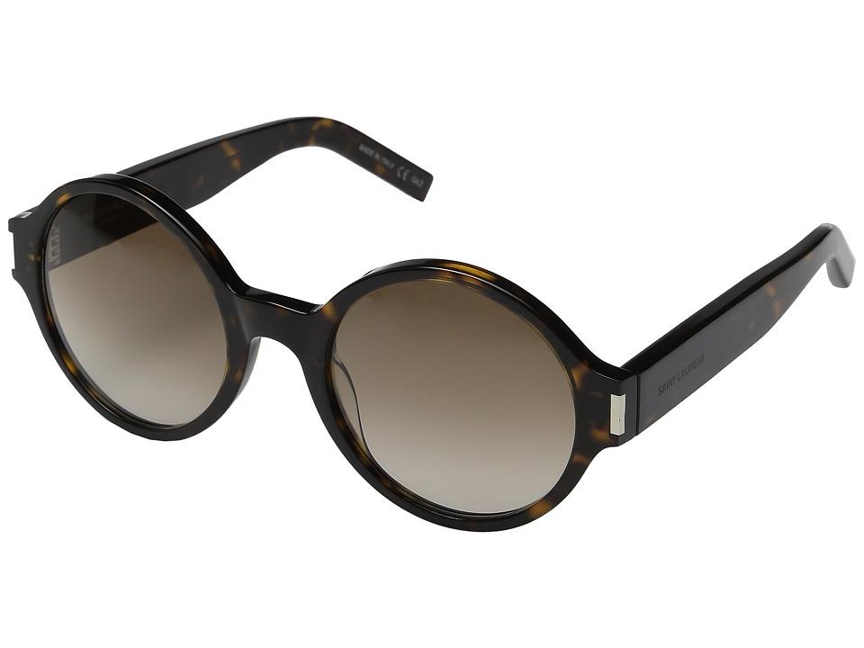 Saint Laurent - SL 63 (Havana/Brown Gradient) Fashion Sunglasses