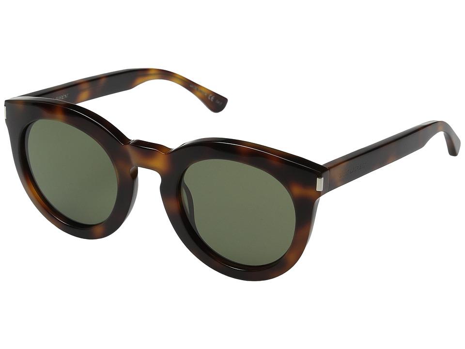 Saint Laurent - SL 102 (Light Havana/Green Barbarini Lens) Fashion Sunglasses