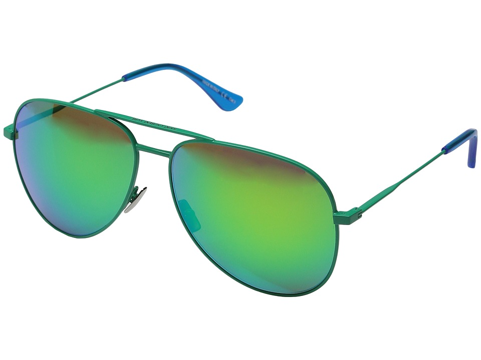 Saint Laurent - Surf Aviator (Green/Green Mirror Lens) Fashion Sunglasses