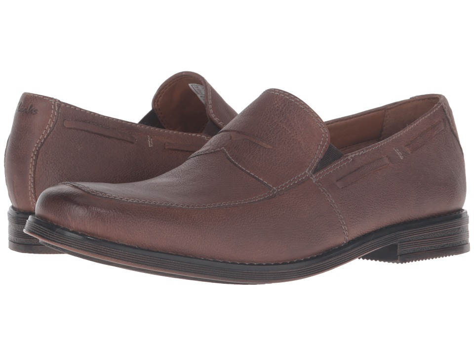 Clarks - Holmby Step (Brown Leather) Men's Shoes