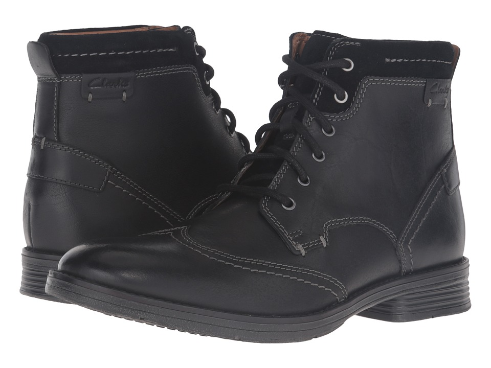 Clarks Devington Hi (Black Smooth) Men