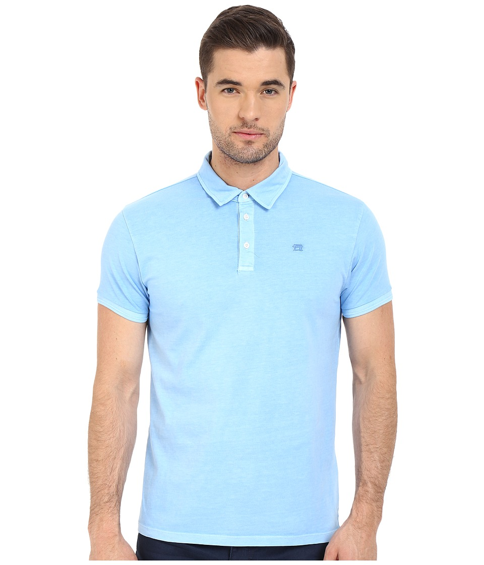 Scotch & Soda - Garment Dyed Slub Jersey Polo (India Blue) Men's Clothing