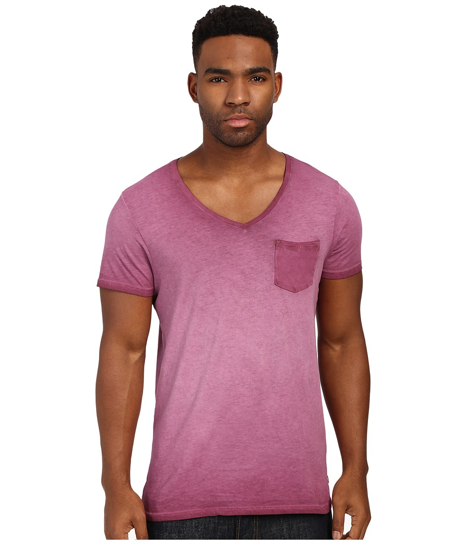 Scotch & Soda - Oil Washed Short Sleeve Tee with Chest Pocket (Mauve) Men's T Shirt