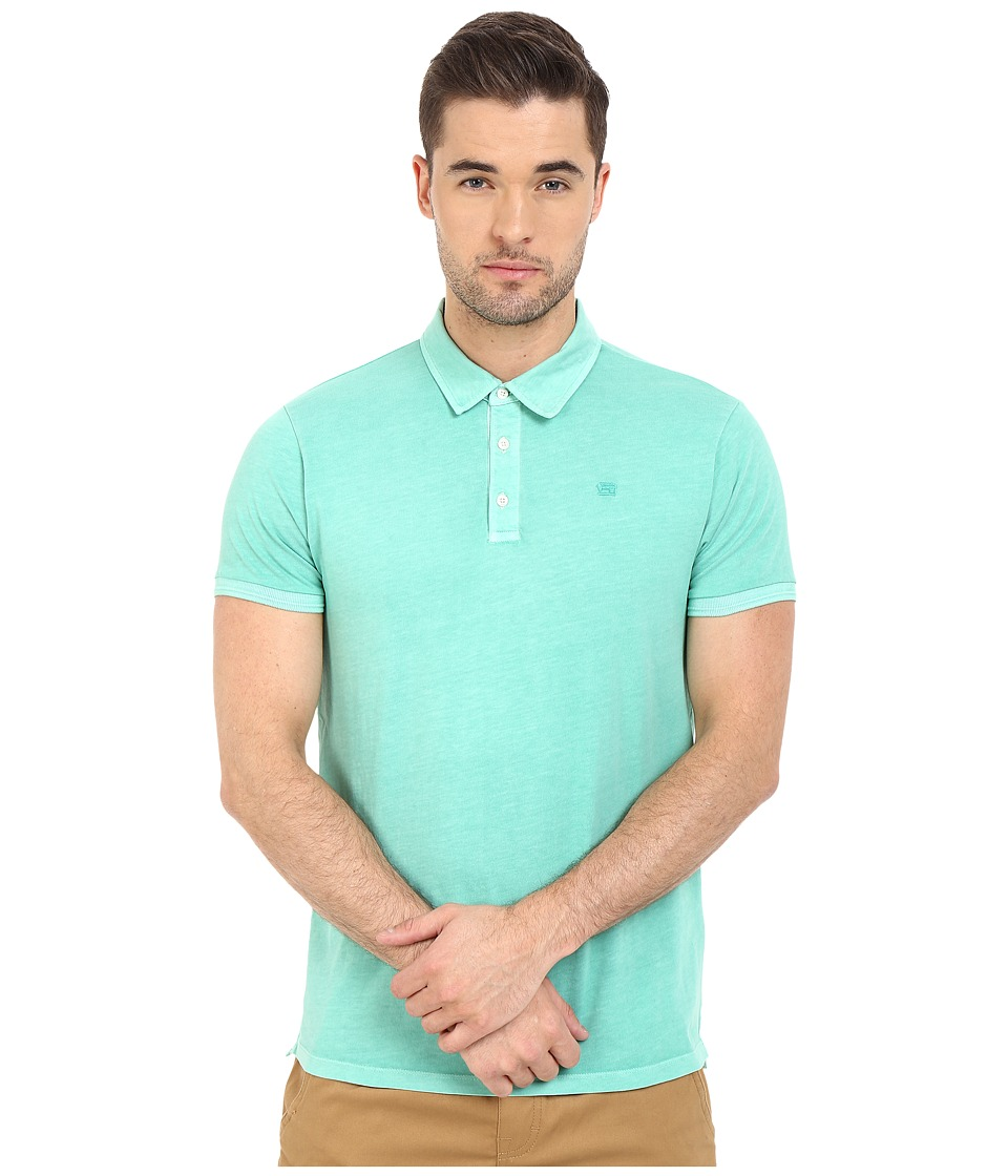 Scotch & Soda - Garment Dyed Slub Jersey Polo (Mint) Men's Clothing