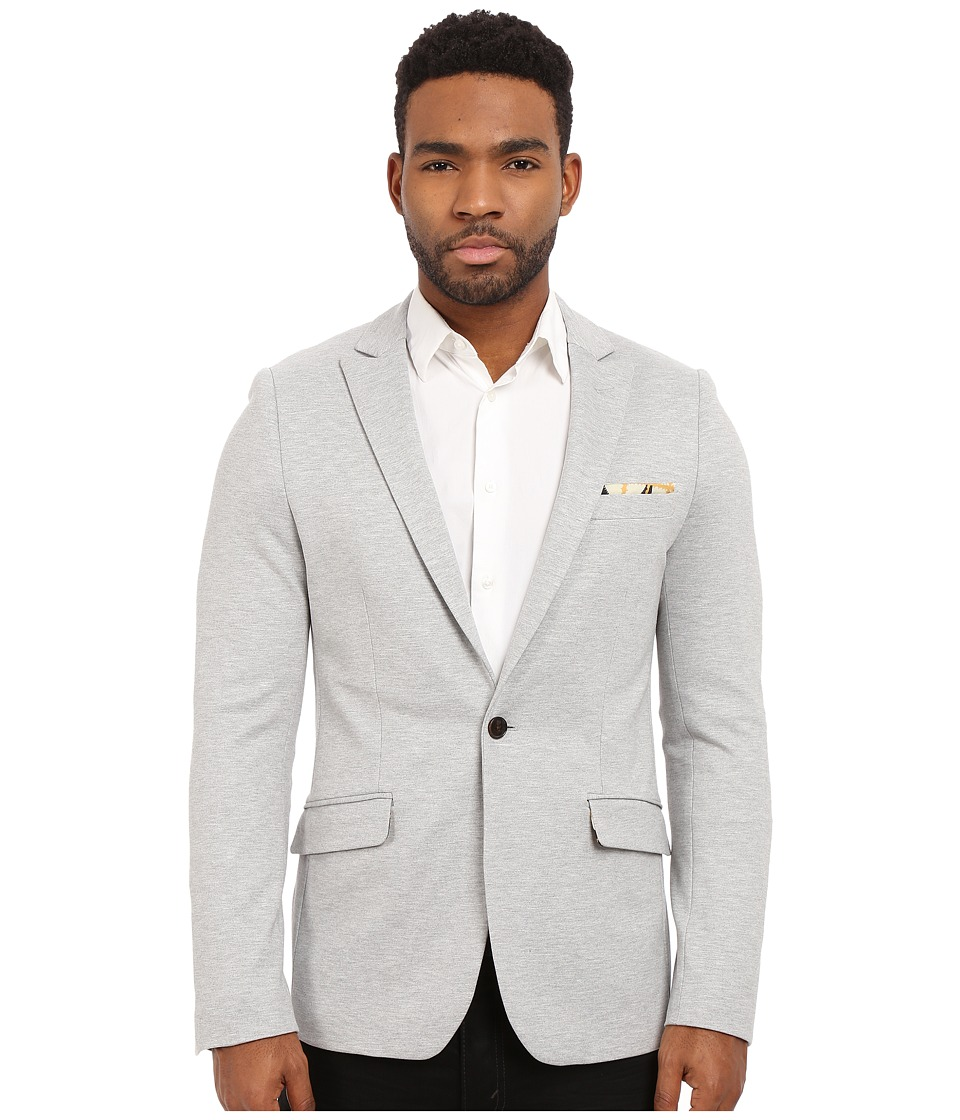 Scotch & Soda - Chic Jersey Blazer in Stretch Quality with Fixed Pochet (Grey) Men's Jacket