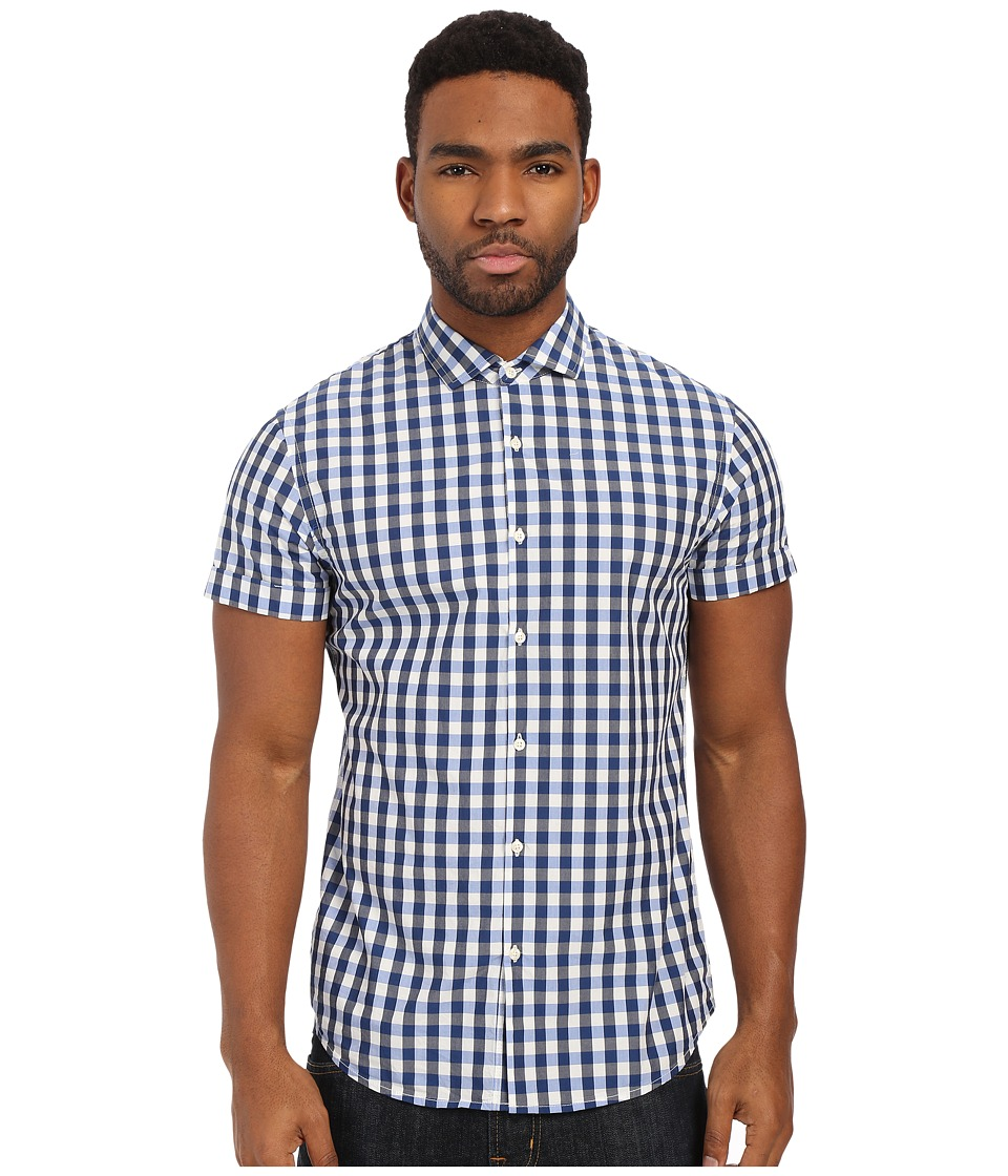 Scotch & Soda - Short Sleeve Blue Shirt (Navy) Men's Short Sleeve Button Up