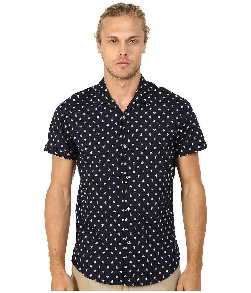 Scotch & Soda - All Over Printed Short Sleeve Shirt in Hawaii Styling (Night) Men's Short Sleeve Button Up