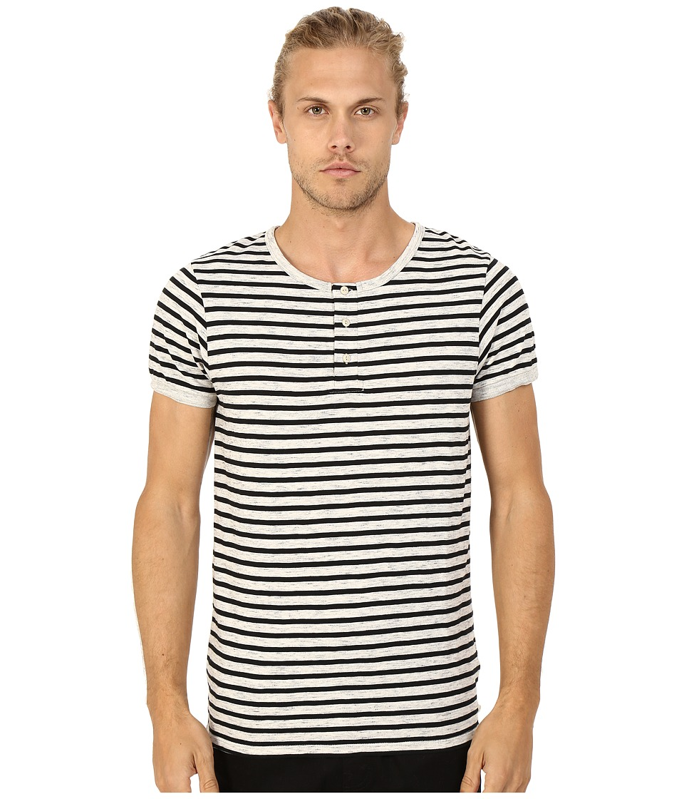 Scotch & Soda - Short Sleeve Grandad Tee (Grey) Men