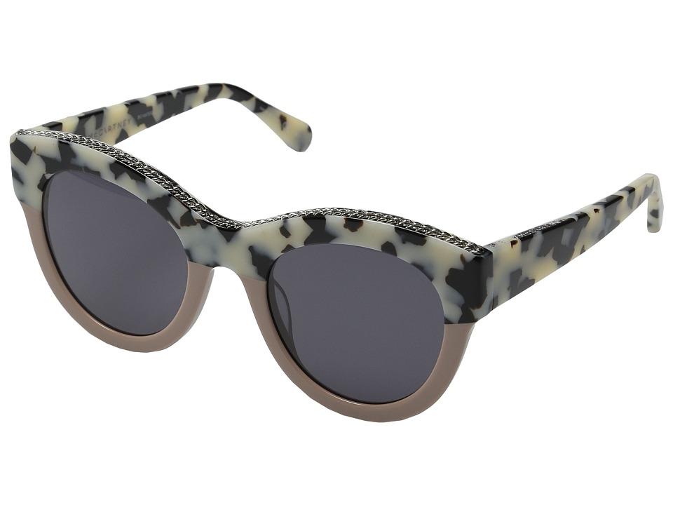 Stella McCartney - SC0018S (White Havana/Light Pink/Grey) Fashion Sunglasses
