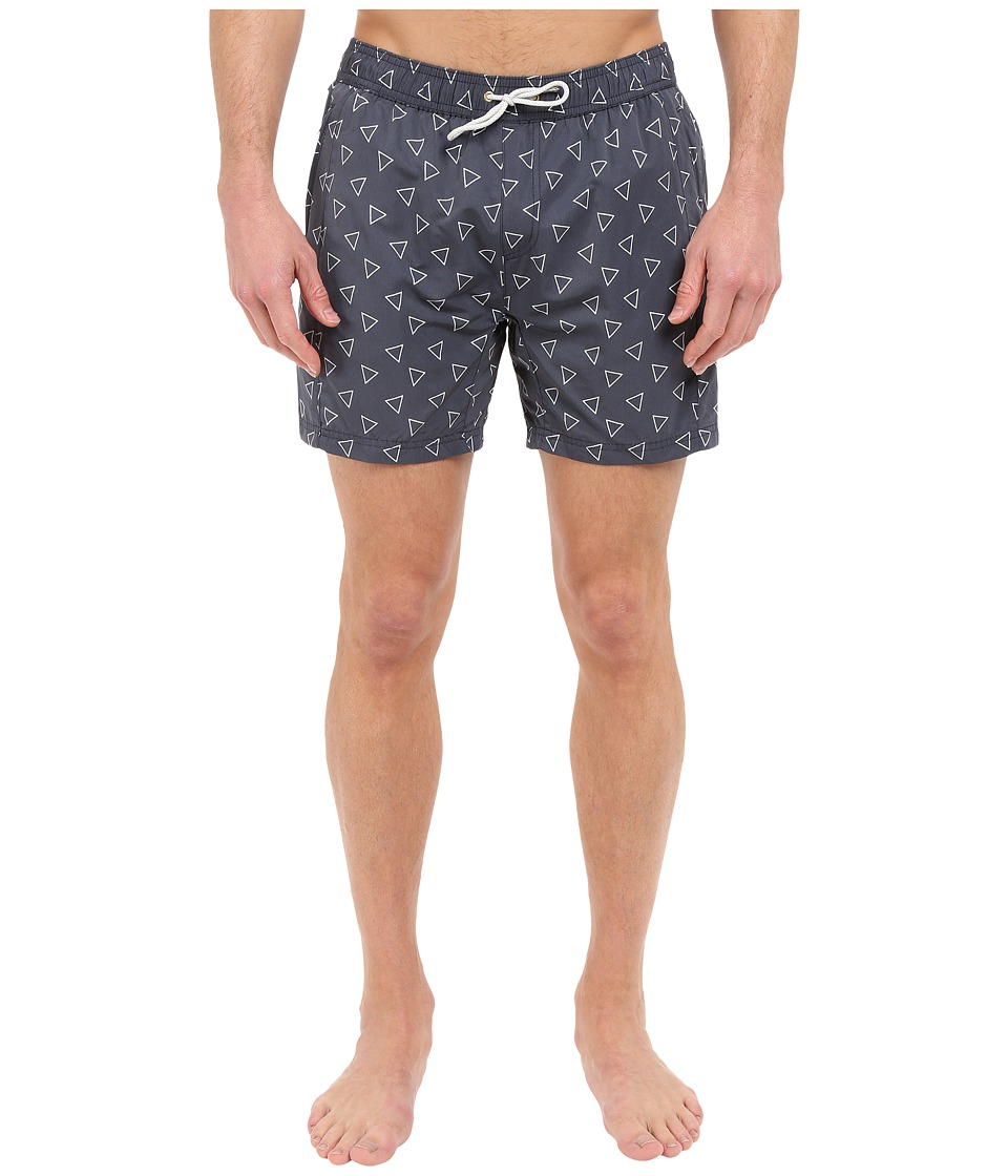 Scotch & Soda - Medium Length Swim Shorts with Cut Sewen Parts in 4 Solids (Midnight) Men's Swimwear