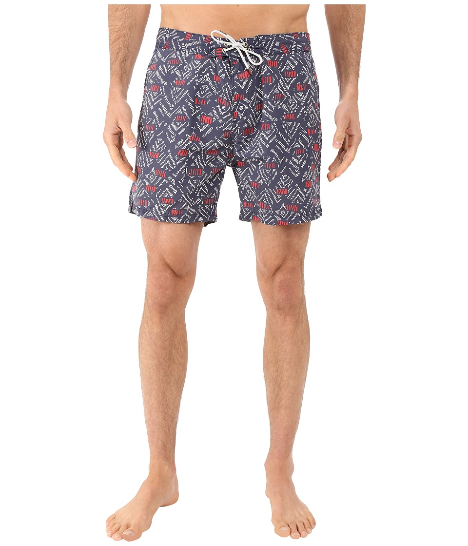 Scotch & Soda - All Over Printed Swim Shorts in Fine Peached Quality (Night) Men's Swimwear