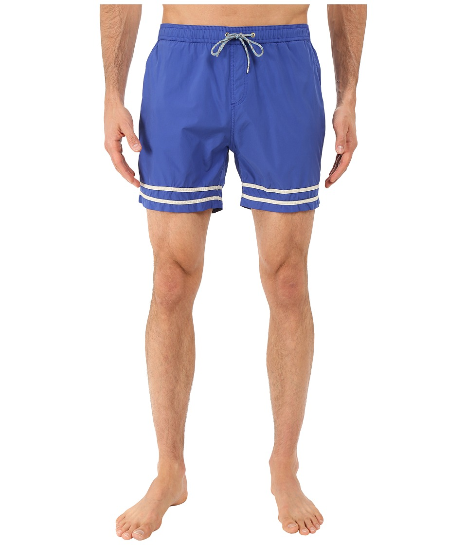Scotch & Soda - Medium Length Swim Shorts in Solid and Color Block Feeling (Cobalt) Men's Swimwear