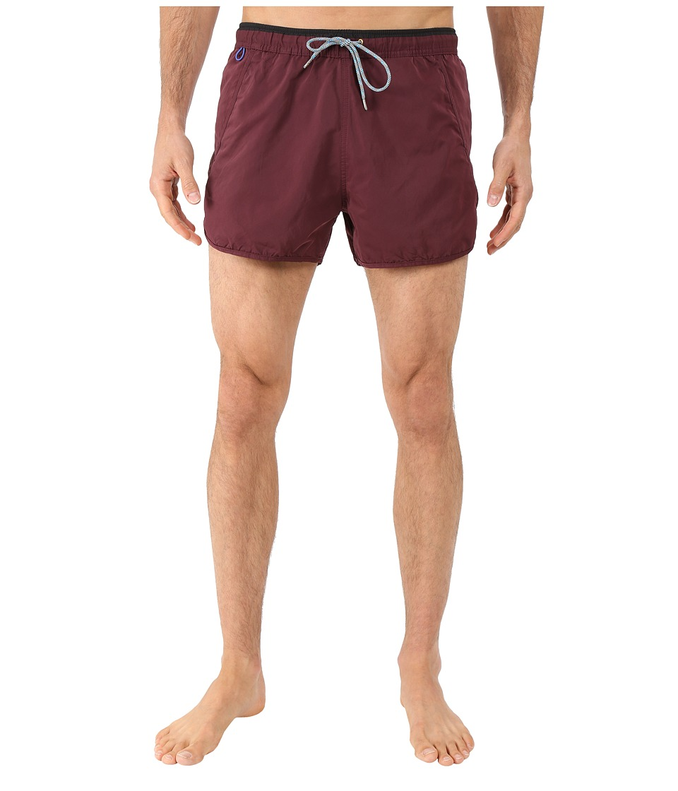Scotch & Soda - Jogging Inspired Swim Shorts (Bordeaux) Men's Swimwear