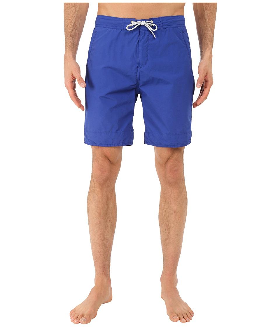 Scotch & Soda - Long Length Swim Shorts in Solid All Over Printed (Cobalt) Men's Swimwear
