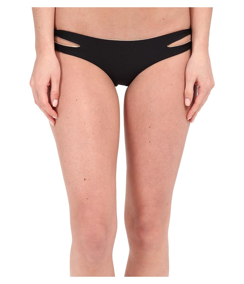 Luli Fama - Cosita Buena Reversible Zigzag Open Side Moderate Bottom (Black) Women's Swimwear