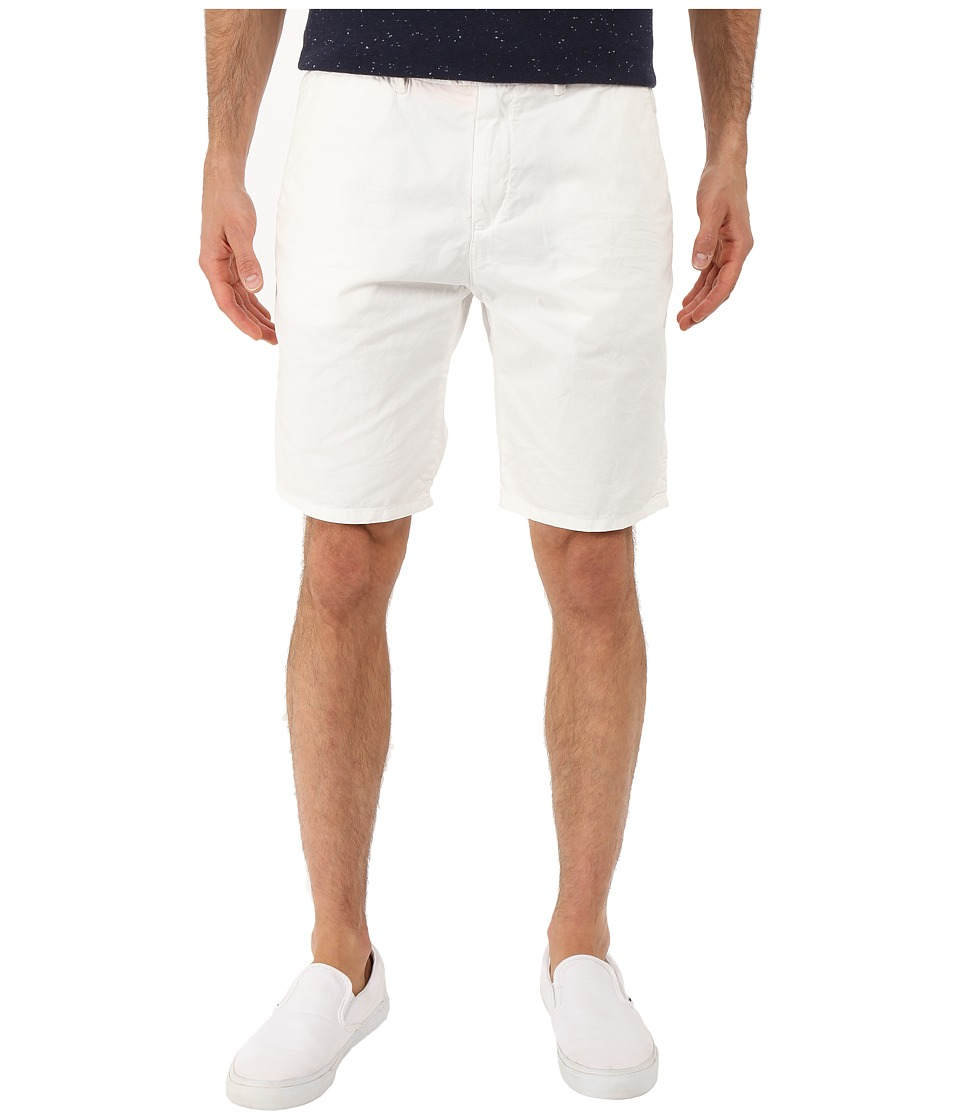 Scotch & Soda - Basic Pima Cotton Chino Shorts (White) Men's Shorts