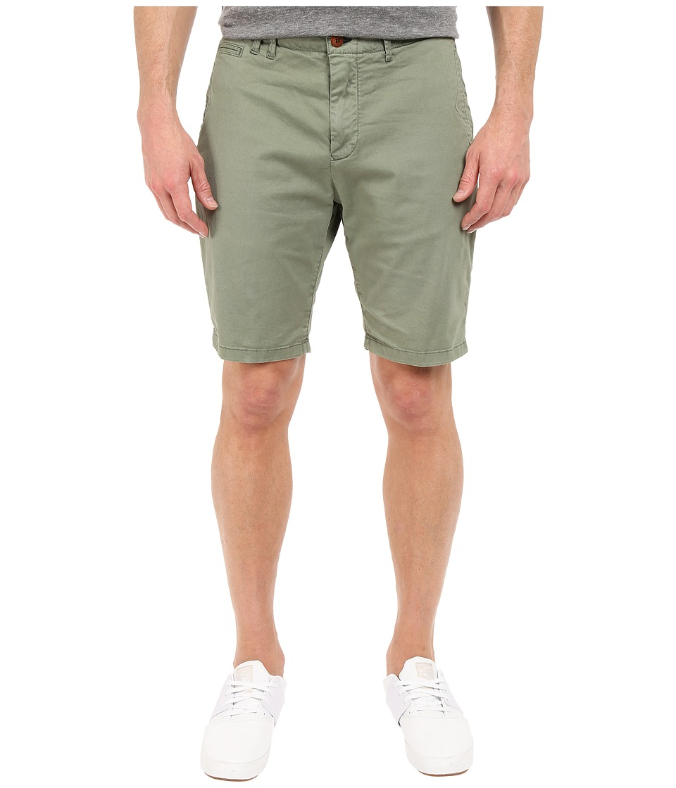 Scotch & Soda - Garment Dyed Basic Twill Chino Shorts (Army) Men's Shorts