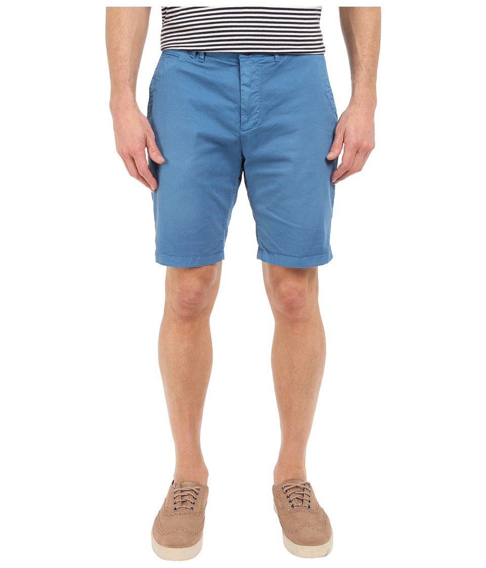 Scotch & Soda - Garment Dyed Basic Twill Chino Shorts (Worker Blue) Men's Shorts