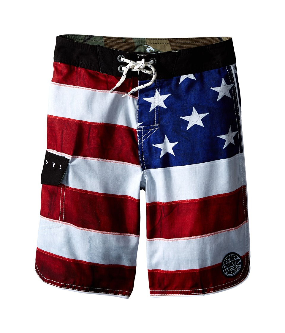 Rip Curl Kids - Old Glory Boardshorts (Big Kids) (Bright Red) Boy's Swimwear