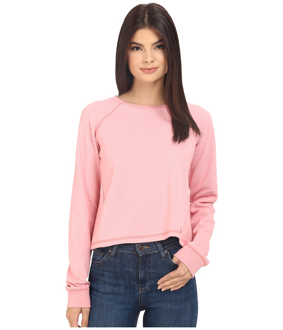 Bench Contemplation Overhead Pullover Sweatshirt (Salmon Rose) Women