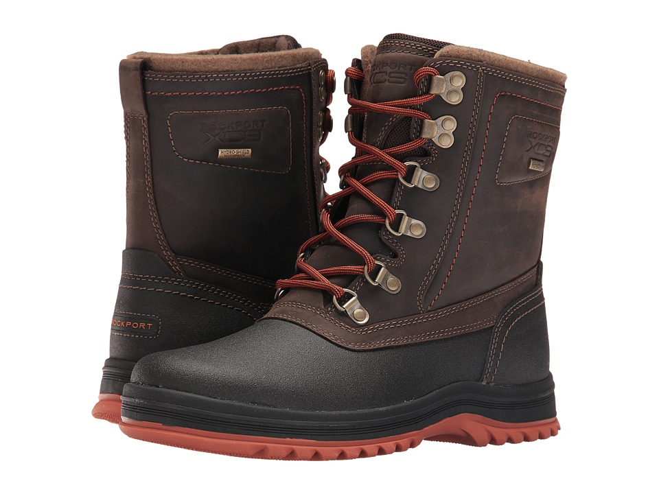 Rockport - World Explorer High Boot (Dark Bitter Chocolate) Men's Lace-up Boots