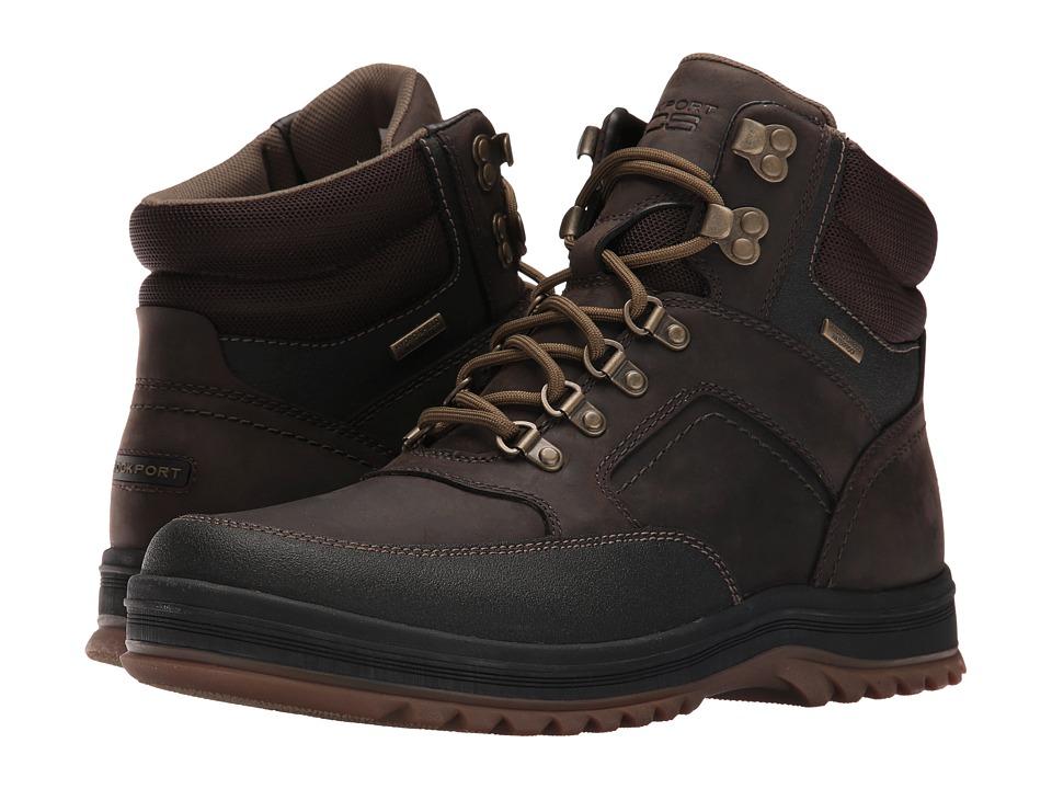 Rockport - World Explorer Mid Waterproof Boot (Dark Bitter Chocolate) Men's Boots