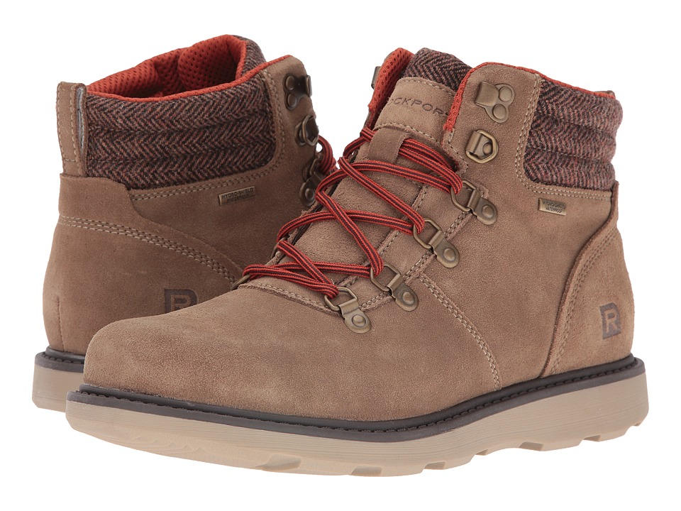 Rockport Boat Builders D-Ring Plain Toe Boot (New Vicuna Suede) Men