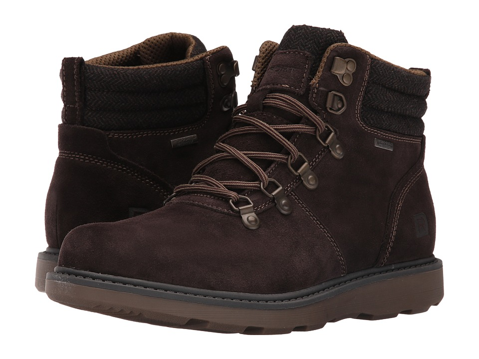 Rockport - Boat Builders D-Ring Plain Toe Boot (Dark Bitter Chocolate Suede) Men's Boots