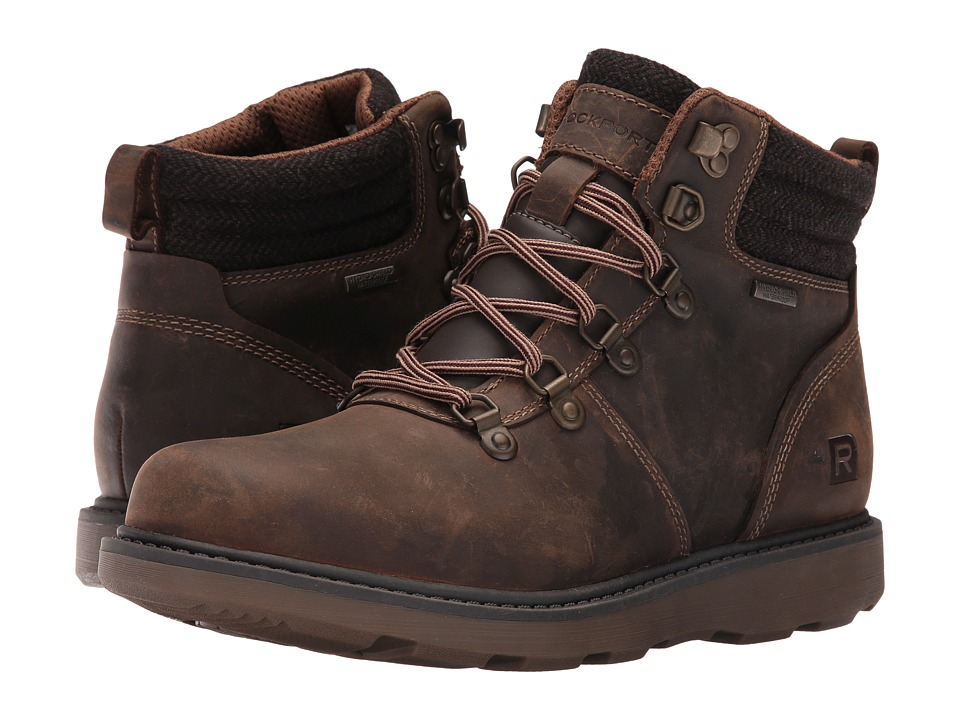 Rockport - Boat Builders D-Ring Plain Toe Boot (Dark Brown) Men's Boots