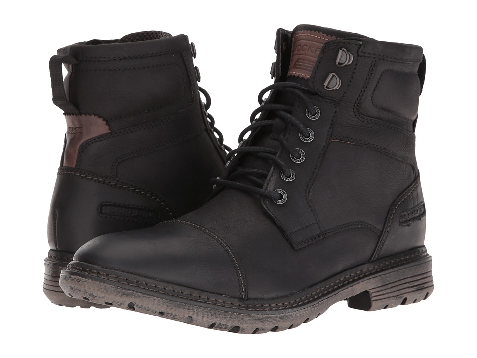 Rockport - Urban Retreat Inside Zip Boot (Black) Men's Work Zip Boots