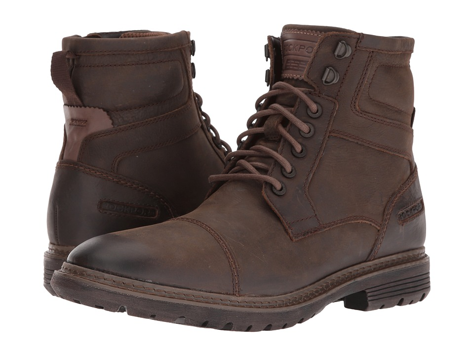 Rockport - Urban Retreat Inside Zip Boot (Bruin) Men's Work Zip Boots