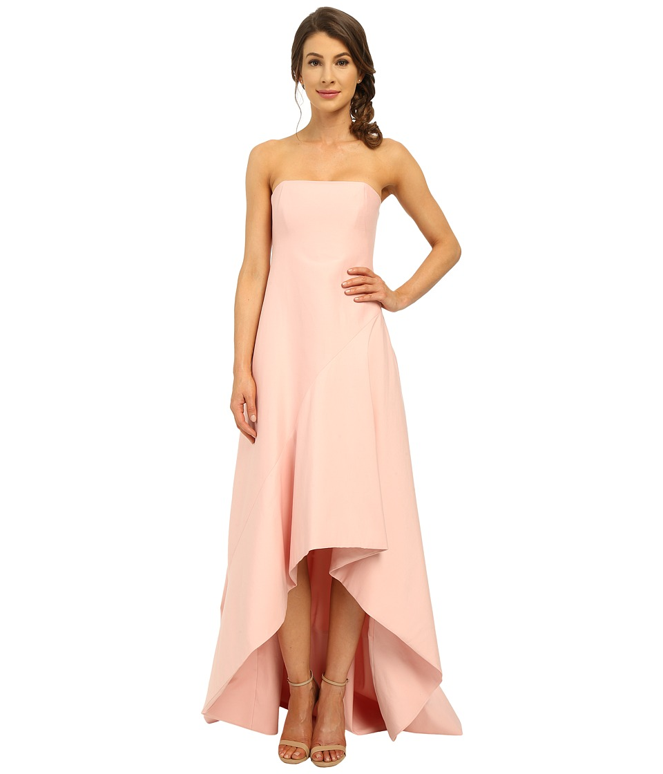 Halston Heritage - Strapless Structured Gown (Lotus) Women's Dress