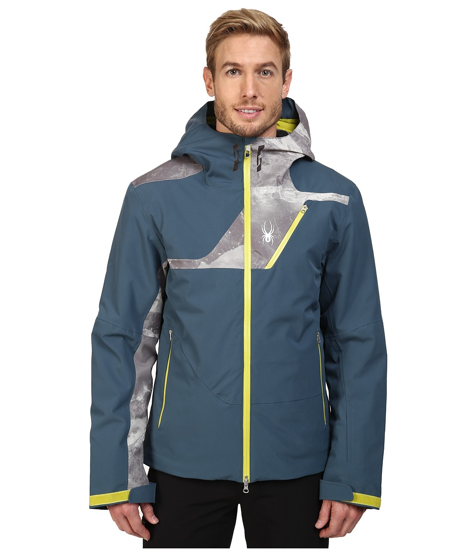 Spyder - Axel Insulated Jacket (Union Blue/Mountain Camo Weld Print/Sulfur) Men's Coat