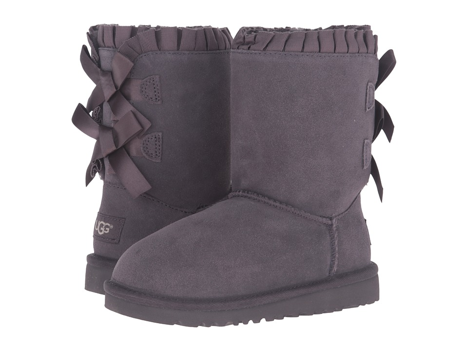 UGG Kids - Bailey Bow Ruffles (Little Kid/Big Kid) (Nightfall) Girls Shoes