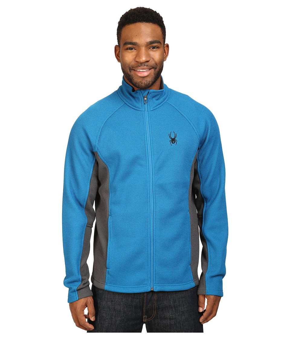 Spyder - Constant Full Zip Mid Weight Core Sweater (Concept Blue/Polar) Men's Sweater