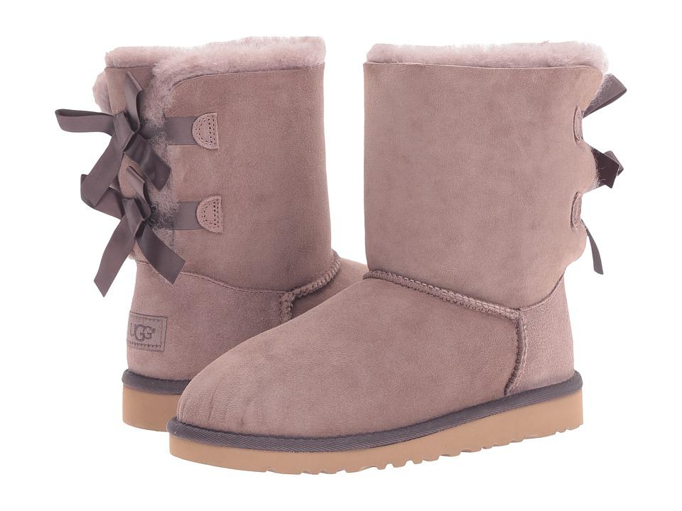 UGG Kids - Bailey Bow (Big Kid) (Stormy Grey) Girls Shoes