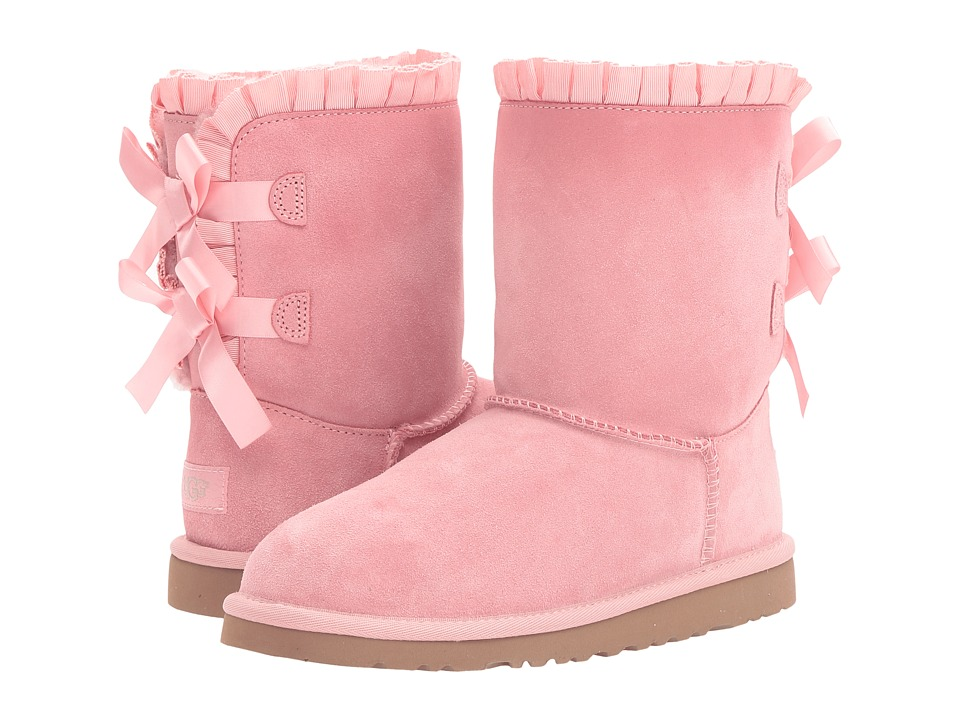 UGG Kids - Bailey Bow Ruffles (Big Kid) (Baby Pink) Girls Shoes