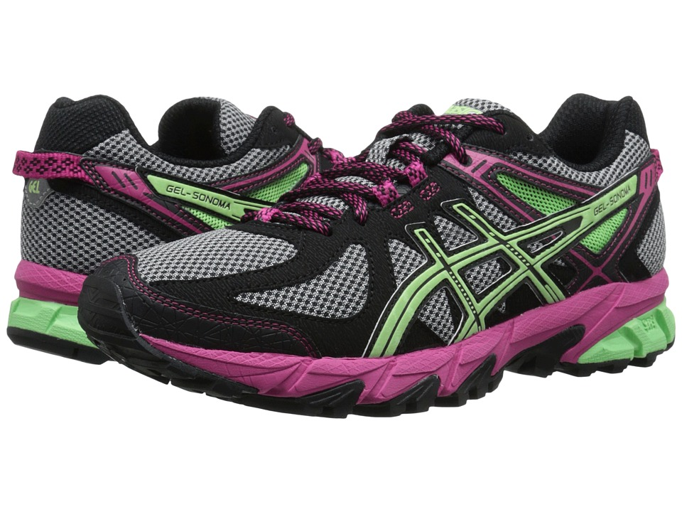 ASICS - Gel-Sonoma (Black/Pistachio/Magenta) Women's Running Shoes