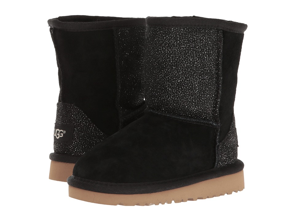 UGG Kids - Classic Short Serein (Toddler/Little Kid) (Black) Girls Shoes