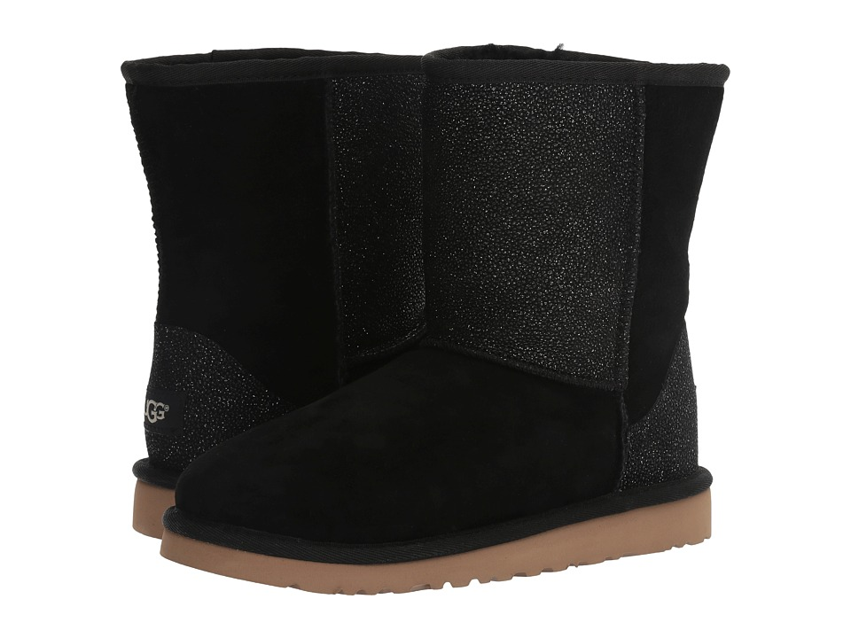 UGG Kids - Classic Short Serein (Big Kid) (Black) Girls Shoes