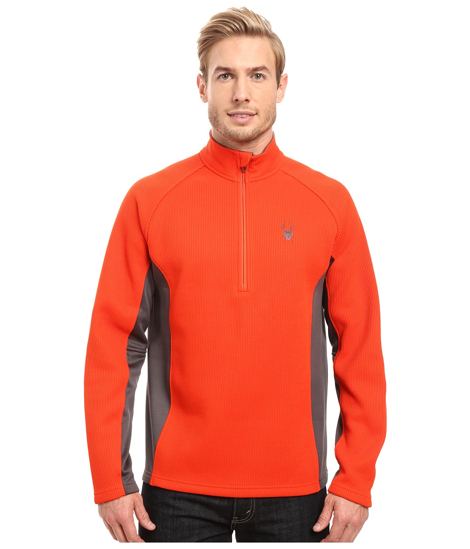Spyder - Outbound Half Zip Mid Weight Core Sweater (Rage/Polar/Rage) Men's Long Sleeve Pullover
