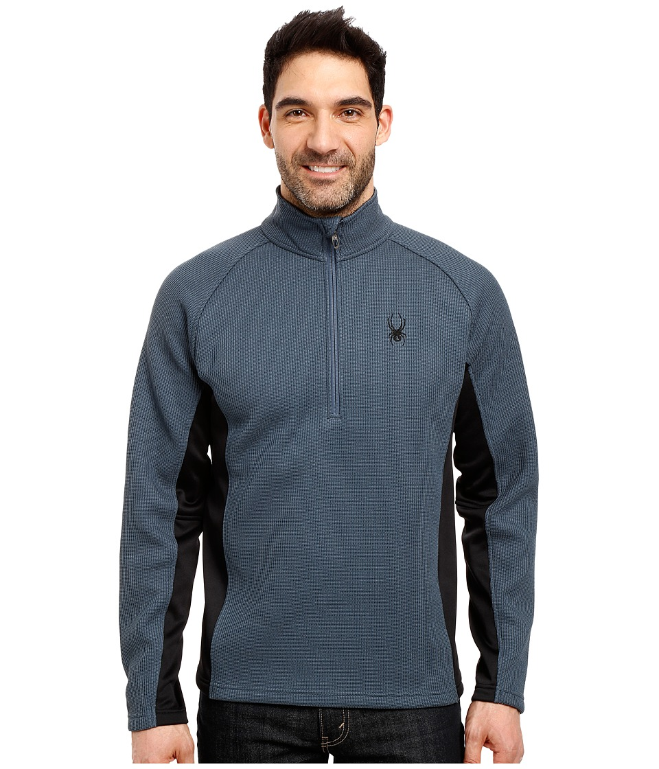 Spyder - Outbound Half Zip Mid Weight Core Sweater (Union Blue/Black/Union Blue) Men's Long Sleeve Pullover