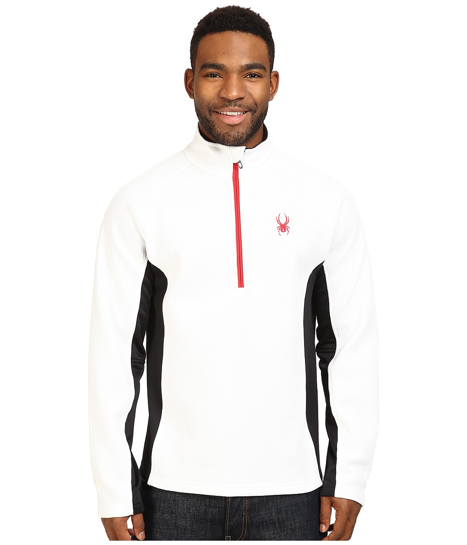 Spyder - Outbound Half Zip Mid Weight Core Sweater (White/Black/Red) Men's Long Sleeve Pullover