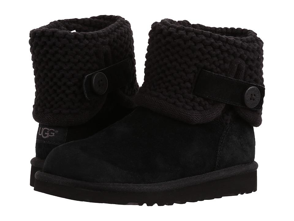 UGG Kids - Darrah (Little Kid/Big Kid) (Black) Girls Shoes