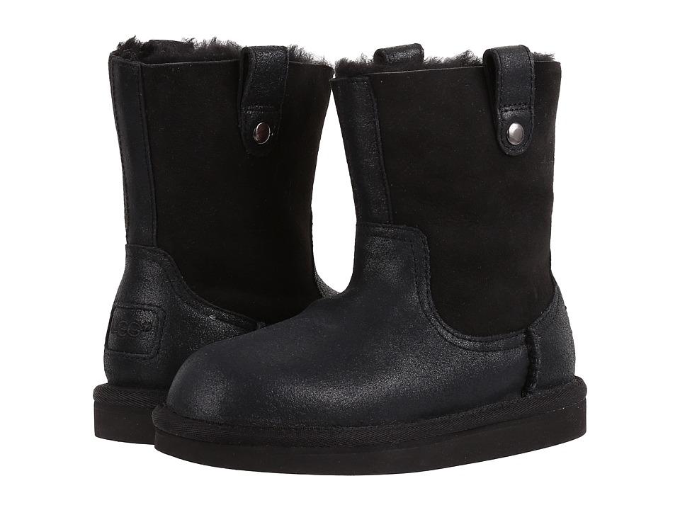 UGG Kids Haydee (Little Kid/Big Kid) (Black) Girls Shoes
